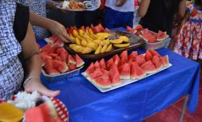 Mangoes and watermelon